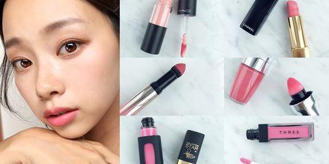 Lip, Cheek, Brown, Skin, Lipstick, Red, Eyebrow, Eyelash, Magenta, Pink,
