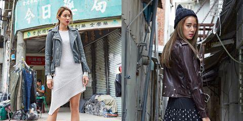 Clothing, Textile, Outerwear, Style, Street fashion, Jacket, Street, Fashion accessory, Fashion, Pattern,