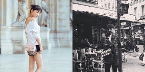 Footwear, Leg, Style, Street fashion, Street, Waist, Fashion, Knee, Fashion model, Monochrome,