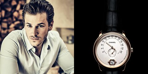 Product, Watch, Wrist, Fashion accessory, Black hair, Analog watch, Watch accessory, Flash photography, Still life photography, Strap,