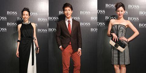 Clothing, Trousers, Dress, Shoulder, Outerwear, Formal wear, Coat, Style, Beauty, Fashion,