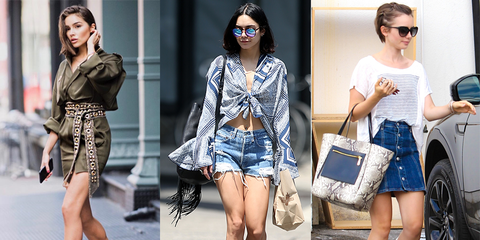 Clothing, Street fashion, Denim, Fashion, Jeans, Footwear, Shorts, Shoe, Fashion model, Waist,