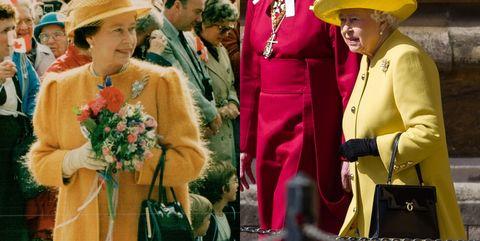 英國女王搭配launer london包款