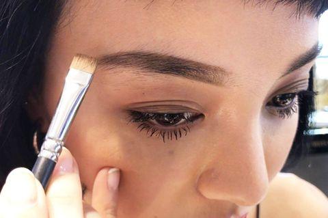 Eyebrow, Face, Eyelash, Eye, Skin, Nose, Forehead, Eye shadow, Cheek, Beauty,