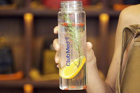 Bottle, Transparent material,