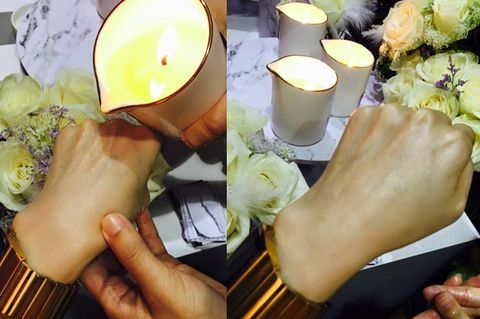 Finger, Lighting, Nail, Petal, Candle, Musical instrument, Plucked string instruments, Wax, String instrument, Thumb,