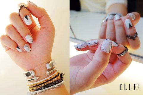 Finger, Skin, Nail, Hand, Wrist, Fashion accessory, Amber, Thumb, Fashion, Metal,