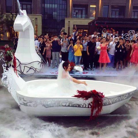 Human, Fun, Recreation, Dress, Fashion, Youth, Watercraft, Boat, Holiday, Sculpture,