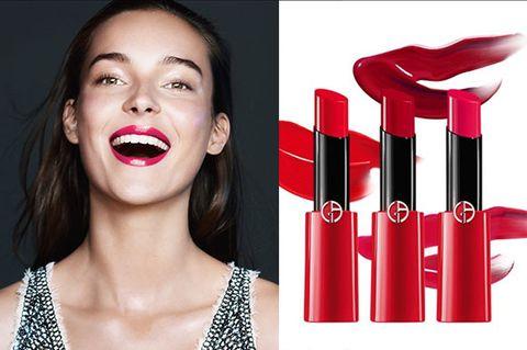Lip, Red, Lipstick, Beauty, Product, Skin, Nose, Cheek, Cosmetics, Lip gloss,