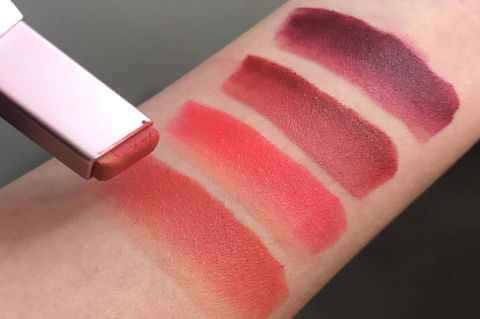 Pink, Lip, Cosmetics, Lipstick, Red, Skin, Beauty, Lip gloss, Tints and shades, Gloss,