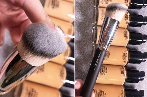 Brush, Cosmetics, Makeup brushes, Skin, Beauty, Cheek, Eye shadow, Material property, Tool, Makeup artist,