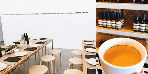 Product, Yellow, Room, Furniture, Table, Interior design, Brunch, Building, Restaurant, Chair,
