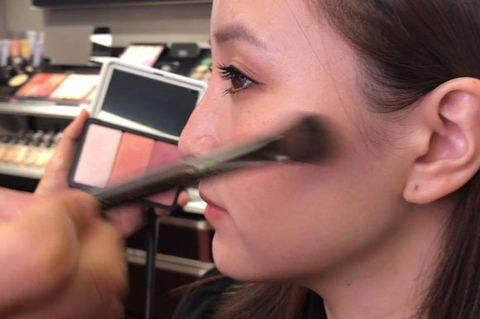 Face, Nose, Eyebrow, Cheek, Makeup artist, Lip, Eyelash, Skin, Eye, Beauty,
