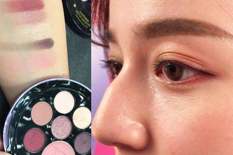 Face, Cheek, Eye shadow, Eyebrow, Skin, Eye, Pink, Nose, Head, Lip,