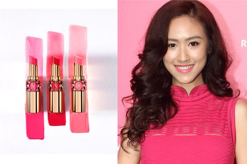 Lip, Product, Shoulder, Eyebrow, Red, Magenta, Pink, Lipstick, Beauty, Musical instrument accessory,
