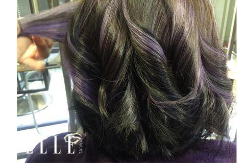 Hairstyle, Textile, Purple, Violet, Style, Magenta, Lavender, Long hair, Braid, Hair coloring,