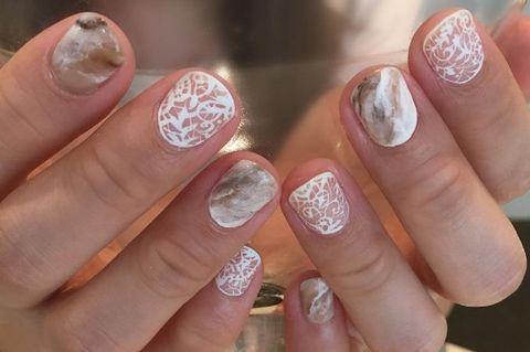 Blue, Finger, Brown, Skin, Nail, Red, Nail care, Pink, Nail polish, Style,