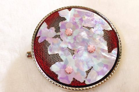 Pink, Purple, Embroidery, Violet, Magenta, Lavender, Maroon, Needlework, Creative arts, Circle,