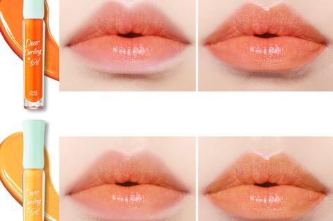Lip, Orange, Skin, Nose, Lip gloss, Red, Eyebrow, Chin, Cosmetics, Lipstick,
