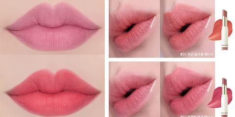 Lip, Pink, Skin, Cosmetics, Lipstick, Beauty, Cheek, Mouth, Lip gloss, Material property,