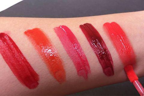Finger, Skin, Red, Liquid, Nail, Carmine, Nail polish, Nail care, Tints and shades, Manicure,