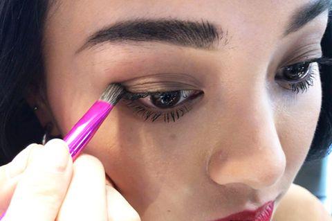 Eyebrow, Face, Eyelash, Eye, Nose, Eye shadow, Skin, Beauty, Cosmetics, Lip,