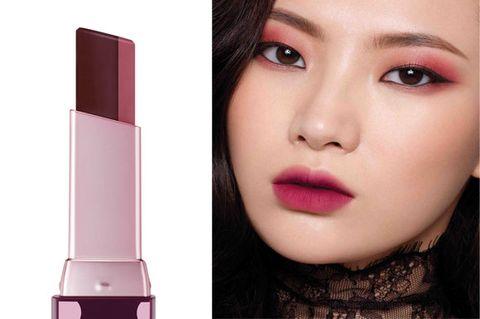 Lip, Face, Pink, Skin, Cheek, Lipstick, Eyebrow, Product, Beauty, Purple,