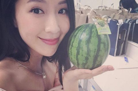 Citrullus, Eyebrow, Watermelon, Fruit, Black hair, Produce, Jewellery, Whole food, Local food, World,
