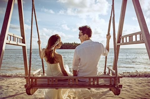 Photograph, Leisure, Summer, People in nature, Vacation, Beach, Holiday, Ocean, Love, Bride,