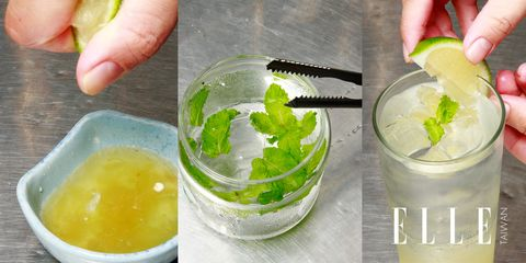 Fluid, Green, Liquid, Drink, Cocktail, Alcoholic beverage, Citrus, Classic cocktail, Distilled beverage, Ingredient,