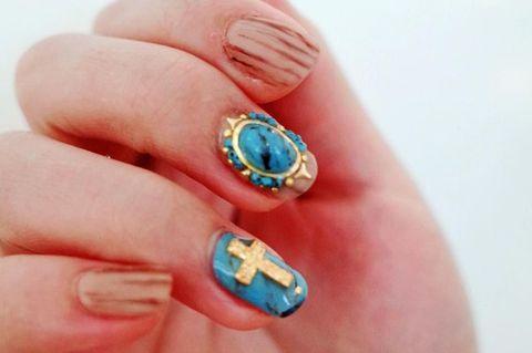 Blue, Finger, Skin, Nail, Nail care, Teal, Style, Nail polish, Aqua, Manicure,