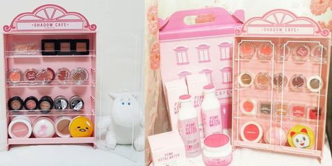 Pink, Peach, Shelving, Shelf, Packaging and labeling, Kitchen appliance, Food storage containers, Major appliance,