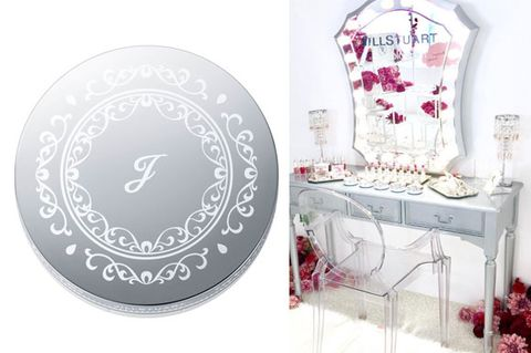 Product, Pink, Table, Furniture, Room, Mirror, Ornament, Plant, Interior design, Metal,