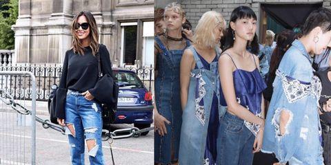Denim, Jeans, Clothing, Street fashion, Fashion, Textile, Dress, Footwear, Shoe, Shopping,