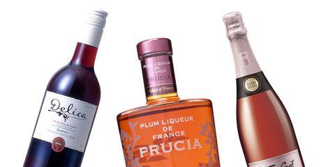 Product, Glass bottle, Liquid, Bottle, Drink, Red, Alcohol, Alcoholic beverage, Wine bottle, Logo,