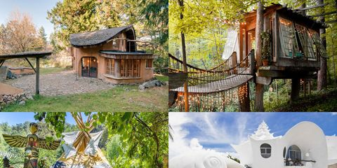 Wood, House, Art, Rural area, Collage, Trunk, Log cabin, Tree house, Home, Village,