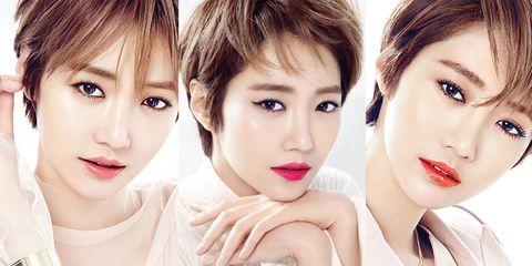 Face, Nose, Eye, Lip, Mouth, Hairstyle, Skin, Eyelash, Chin, Forehead,