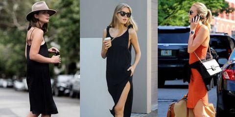 Clothing, Eyewear, Dress, Shoulder, Joint, Sunglasses, Hat, Fashion accessory, Style, Street fashion,
