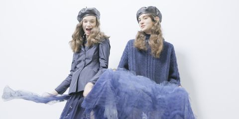 Clothing, Blue, Fashion, Dress, Costume design, Fur, Fashion design, Outerwear, Haute couture, Costume,