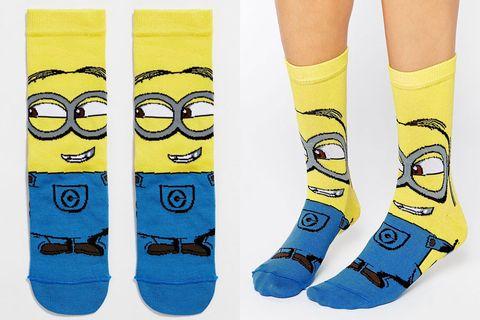 Yellow, Sock, Foot,