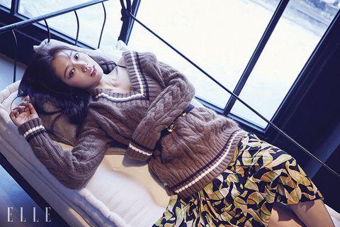Beauty, Cool, Fashion, Photo shoot, Photography, Outerwear, Textile, Smile, Model, Black hair,