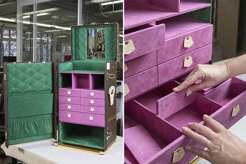 Green, Pink, Purple, Material property, Furniture, Shelf, Drawer, Plastic,