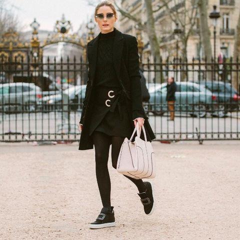 Clothing, Footwear, Coat, Shoe, Textile, Collar, Outerwear, Street, Bag, Fashion accessory,