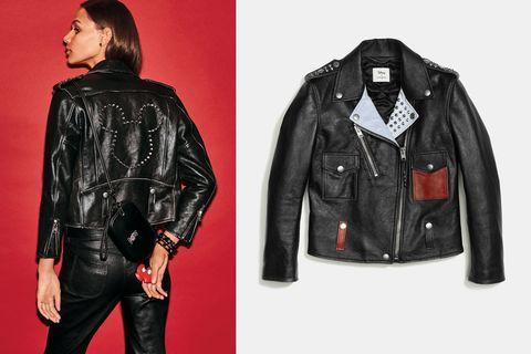 Clothing, Jacket, Collar, Sleeve, Coat, Textile, Outerwear, Leather, Leather jacket, Fashion,