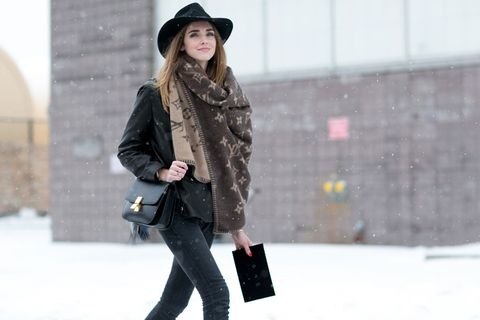 Clothing, Winter, Brown, Hat, Sleeve, Trousers, Human body, Textile, Outerwear, Coat,
