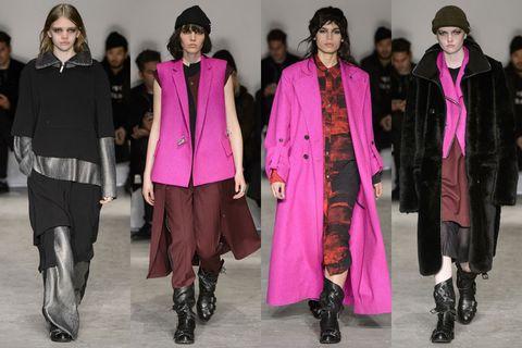 Footwear, Winter, Outerwear, Hat, Pink, Magenta, Style, Street fashion, Headgear, Fashion,