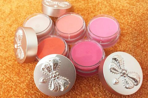 Pink, Magenta, Peach, Metal, Cosmetics, Silver, Face powder, Food storage containers, Chemical compound, Silver,