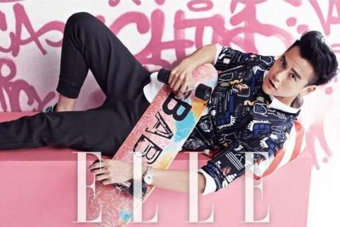 Sleeve, Elbow, Pink, Style, Sitting, Black hair, Fashion, Cool, Knee, Thigh,