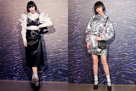 Sleeve, Textile, Style, Street fashion, Fashion model, Pattern, Knee, Fashion, Bag, Waist,