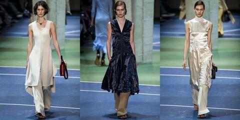Dress, Shoulder, Formal wear, Style, Fashion model, One-piece garment, Fashion, Fashion show, Model, Waist,